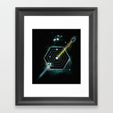Space and Time Fragmentation Ship Framed Art Print