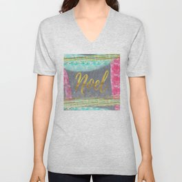 NOEL - Merry modern abstract christmas Unisex V-Neck