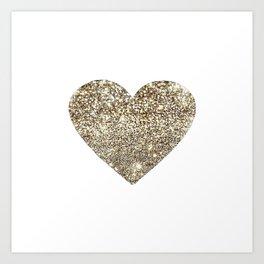Gold Heart 16 Art Print