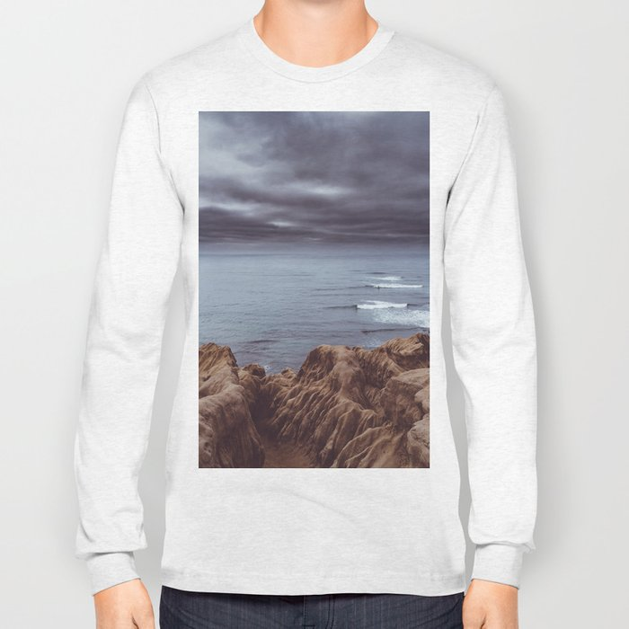 Sunset Cliffs Storm Long Sleeve T-shirt