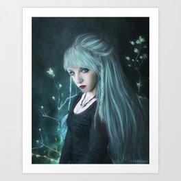 Snow elf Art Print