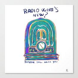 Radio What's New? Canvas Print