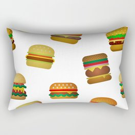 Burguers Pattern Rectangular Pillow