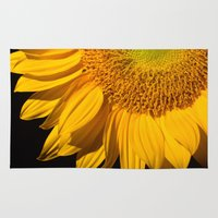 sunflower Area & Throw Rugs featuring sunflower by mark ashkenazi