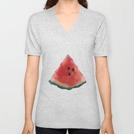 Watermelon A Slice Unisex V-Neck