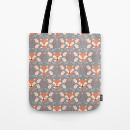 Foxes and rabbits Tote Bag