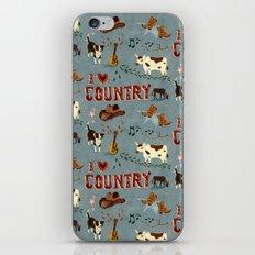I Love Country iPhone & iPod Skin