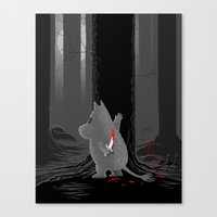 moomin Canvas Prints featuring Hide and Seek by Tobias Green