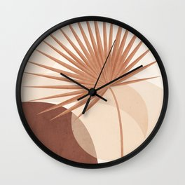 Tropical Leaf- Abstract Art 20 Wall Clock