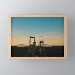 Tacoma Narrows Sunset - Landscape Framed Mini Art Print