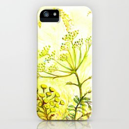 Tansy and Great mullein iPhone Case