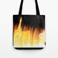The golden fountains of Bellagio in Vegas Tote Bag