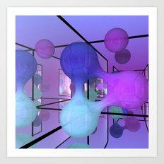 mirrored blob Art Print