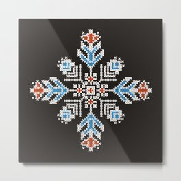 Snow flower Metal Print