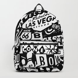 LAS VEGAS. VINTAGE SIGNS Backpack