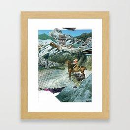Experiment am Berg 16 Framed Art Print