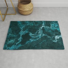 Green Marble Abstract Rug