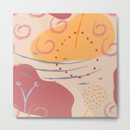 Abstract Pattern Modern Art 13 Metal Print