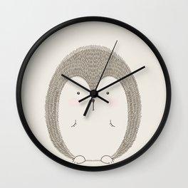 Hedgehog Cute Nursery Woodland Animals Wall Clock