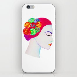 The Girl with the Flowers in her Hair iPhone Skin