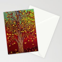 Abstract Fall tree Stationery Cards