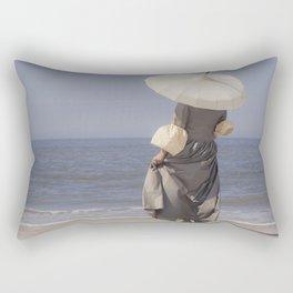 White Parasol II Rectangular Pillow