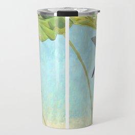Kingfisher and Lotus Travel Mug