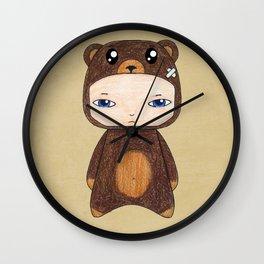 A Boy - Bear Wall Clock