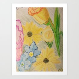 Forget me not, Daisy. Art Print