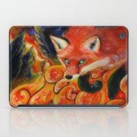 kitsune iPad Cases featuring Kitsune by Kendra Alexzine