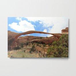 Landscape Arch Metal Print