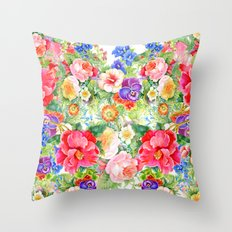 Love & Flowers Throw Pillow