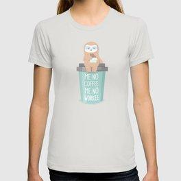 Cute lazy coffee sloth T-shirt