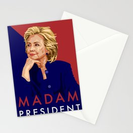Hillary Poster  Stationery Cards