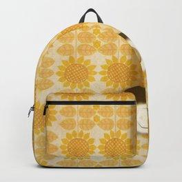 Vintage Sunflowers Pattern of GDR with Socket  Backpack