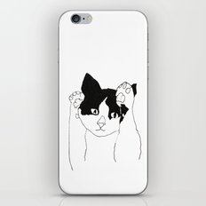 paws up cat iPhone & iPod Skin