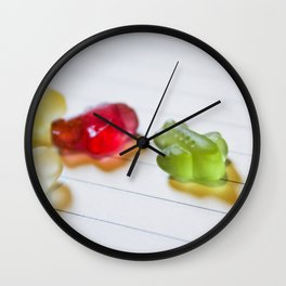 Airplane jelly candies Wall Clock