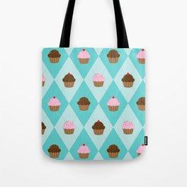 Argyle Cupcakes Tote Bag