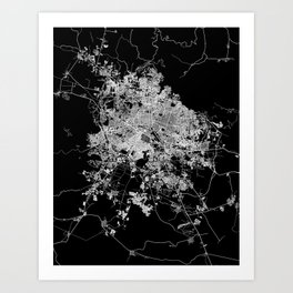 Guadalajara map Art Print
