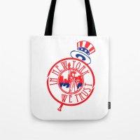 """yankees Tote Bags featuring """"Subway Series"""" Yankees by InNYweTrust"""