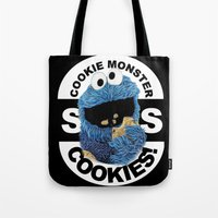 cookies Tote Bags featuring COOKIES! by SwanniePhotoArt