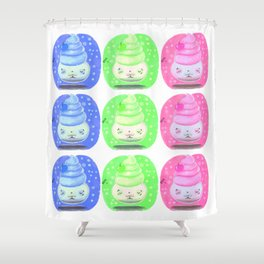 Cupcake Meditation Shower Curtain