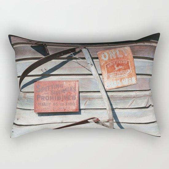 Spitting Prohibited Rectangular Pillow