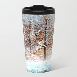 Snow Flurries on Moon Lake up Dewdrop Holler Travel Mug