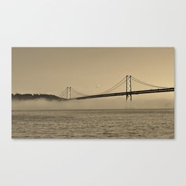 Foggy Bay Canvas Print