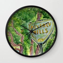 Beverly Hills Street Sign Wall Clock