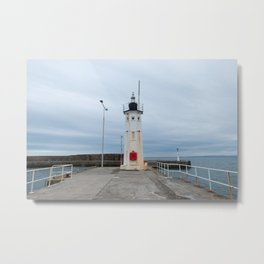 Anstruther lighthouse in Scotland Metal Print