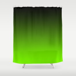 Black and Chartreuse Ombre Shower Curtain
