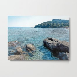 Seacoast near Le Lavandou and Bormes-les-Mimosas in French Riviera Metal Print