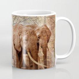 Elephants family on a walk Coffee Mug